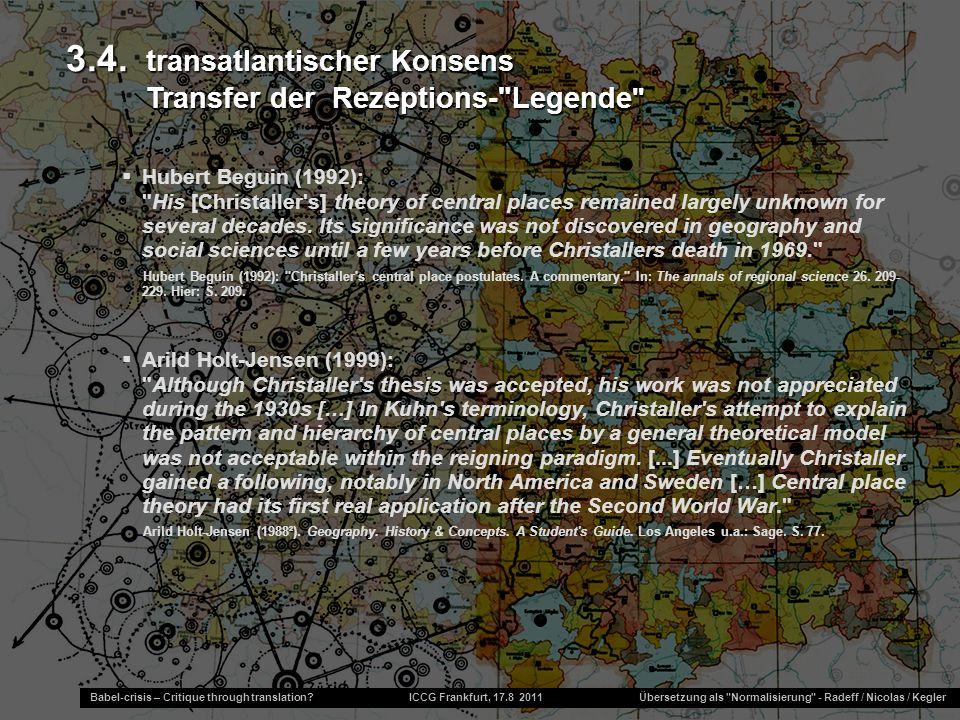 3.4. transatlantischer Konsens Transfer der Rezeptions- Legende