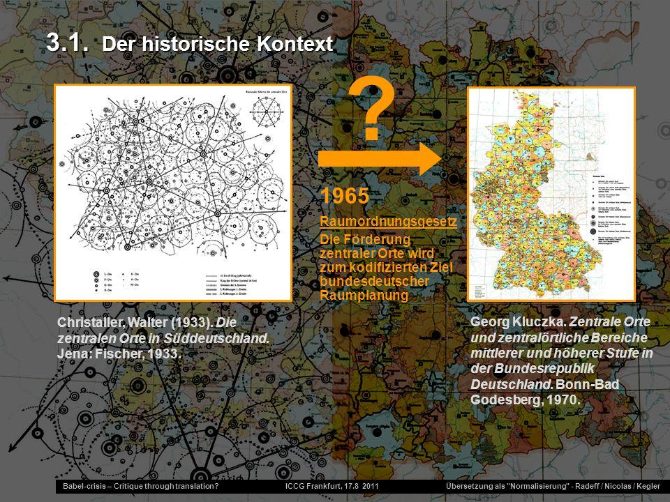 3.1. Der historische Kontext 1965 Raumordnungsgesetz