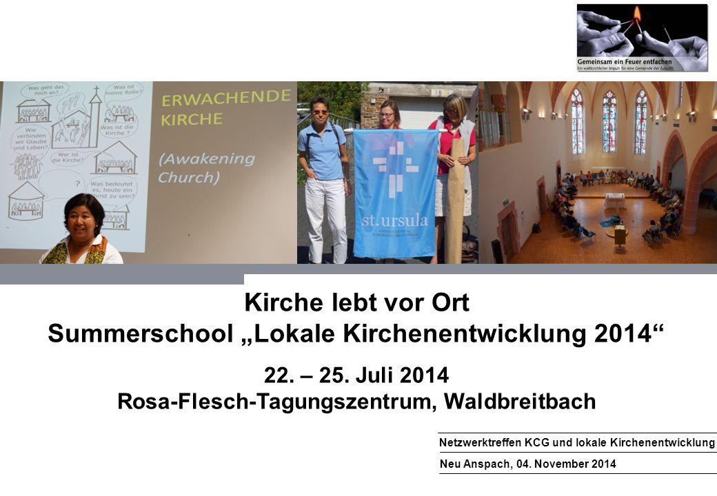 """Kirche lebt vor Ort Summerschool """"Lokale Kirchenentwicklung 2014"""