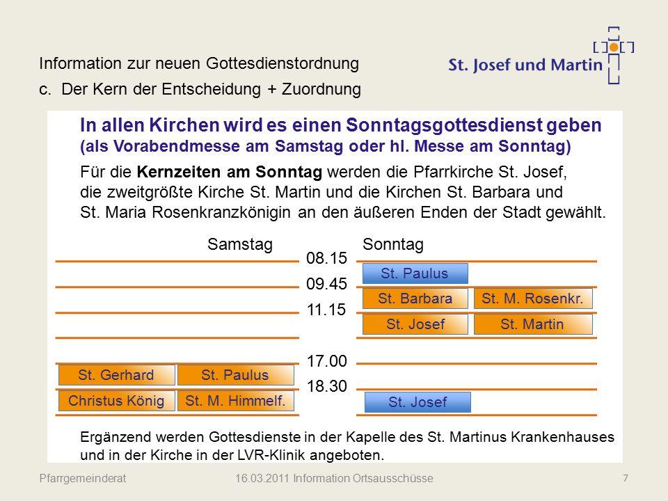 16.03.2011 Information Ortsausschüsse