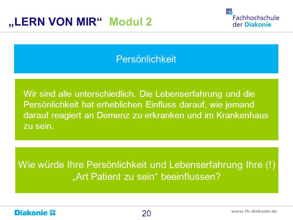 """""""LERN VON MIR Modul 2 Persönlichkeit"""