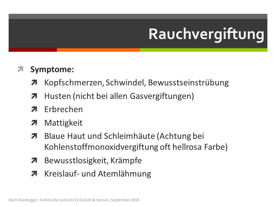 Rauchvergiftung Symptome: