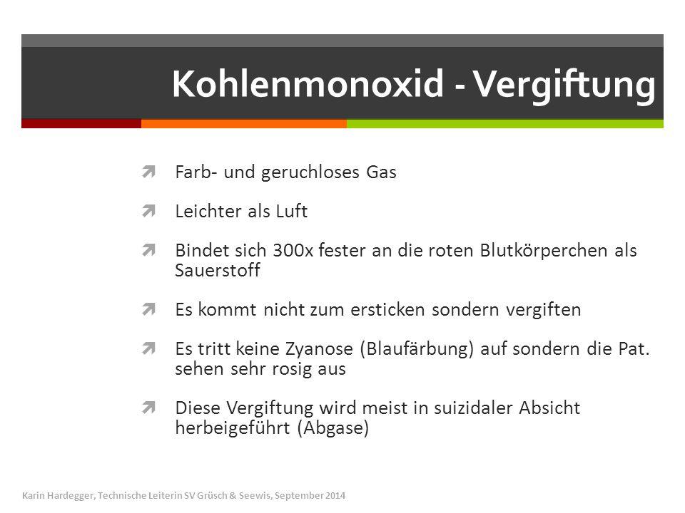 Kohlenmonoxid - Vergiftung