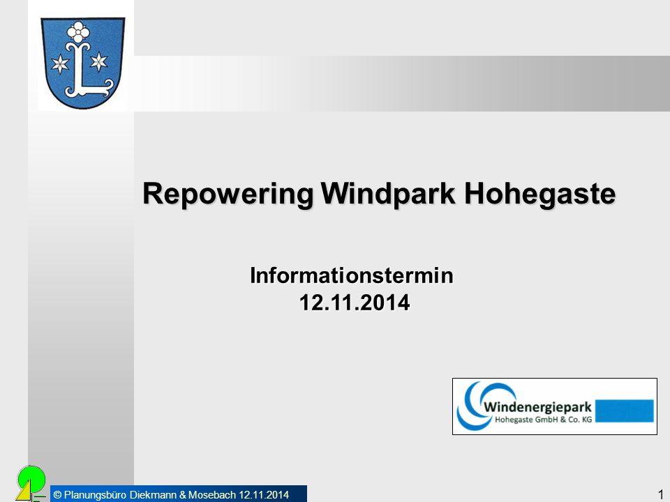 Repowering Windpark Hohegaste