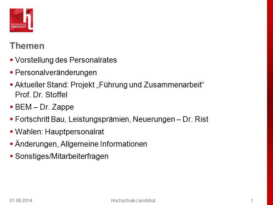 Der Personalrat Florian Federmann, Vorsitzender Fakultät MB, Laboringenieur.