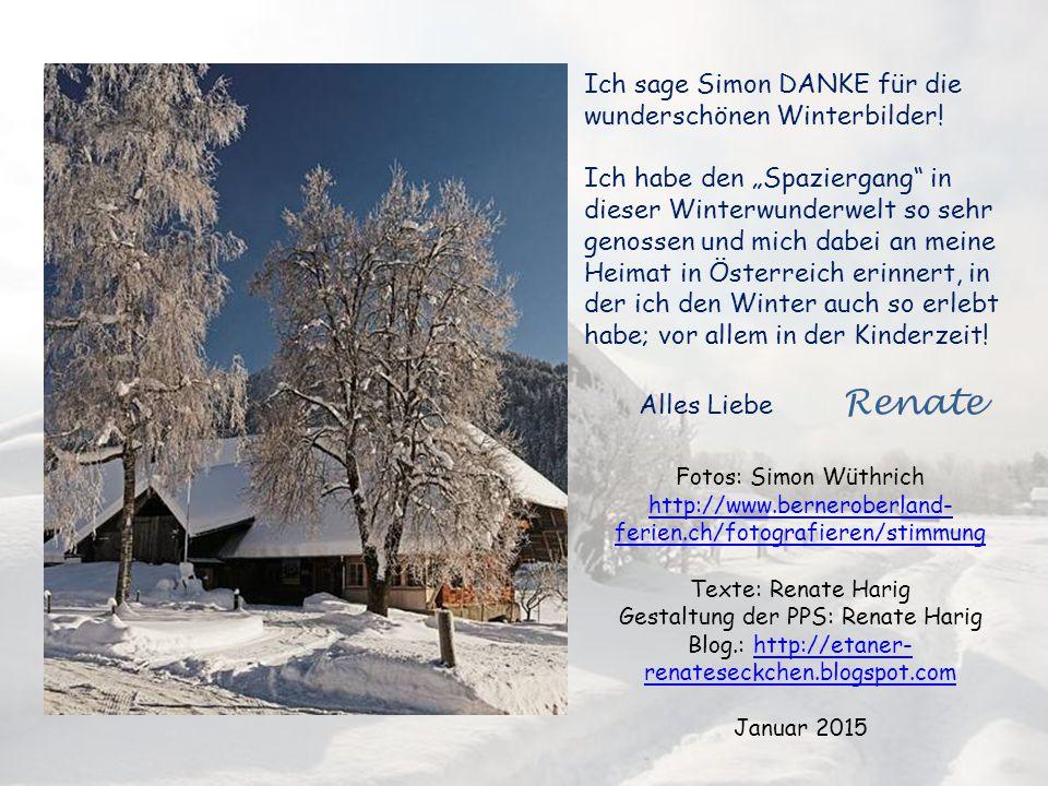 Ich sage Simon DANKE für die wunderschönen Winterbilder!
