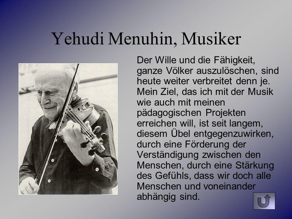 Yehudi Menuhin, Musiker