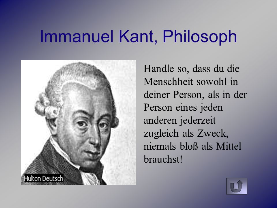 Immanuel Kant, Philosoph