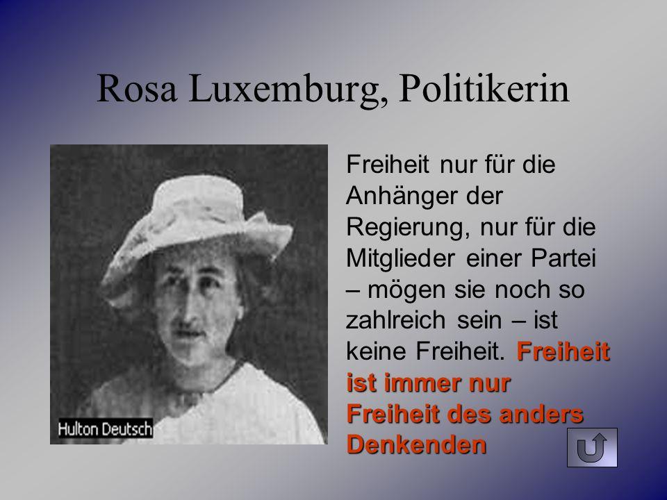 Rosa Luxemburg, Politikerin
