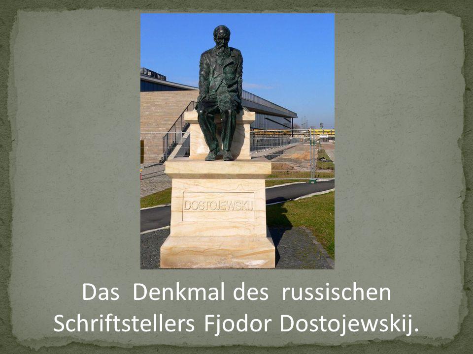 Das Denkmal des russischen Schriftstellers Fjodor Dostojewskij.