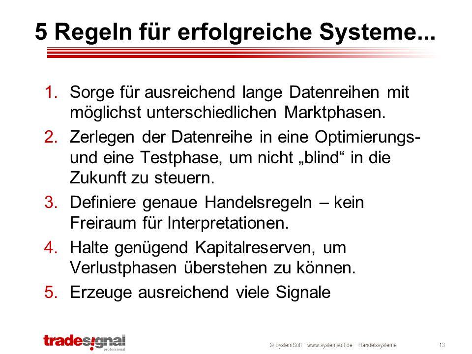 5 Regeln für erfolgreiche Systeme...