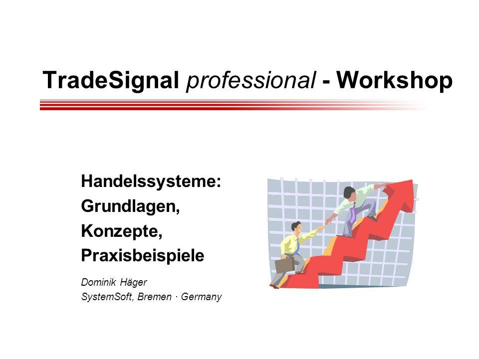 TradeSignal professional - Workshop