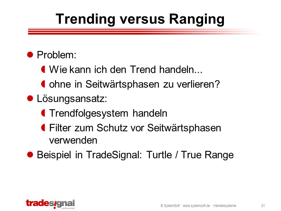 Trending versus Ranging