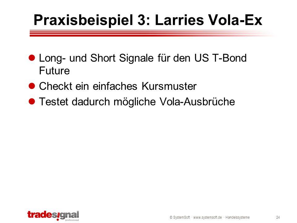 Praxisbeispiel 3: Larries Vola-Ex