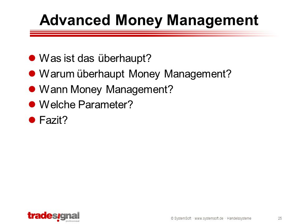 Advanced Money Management