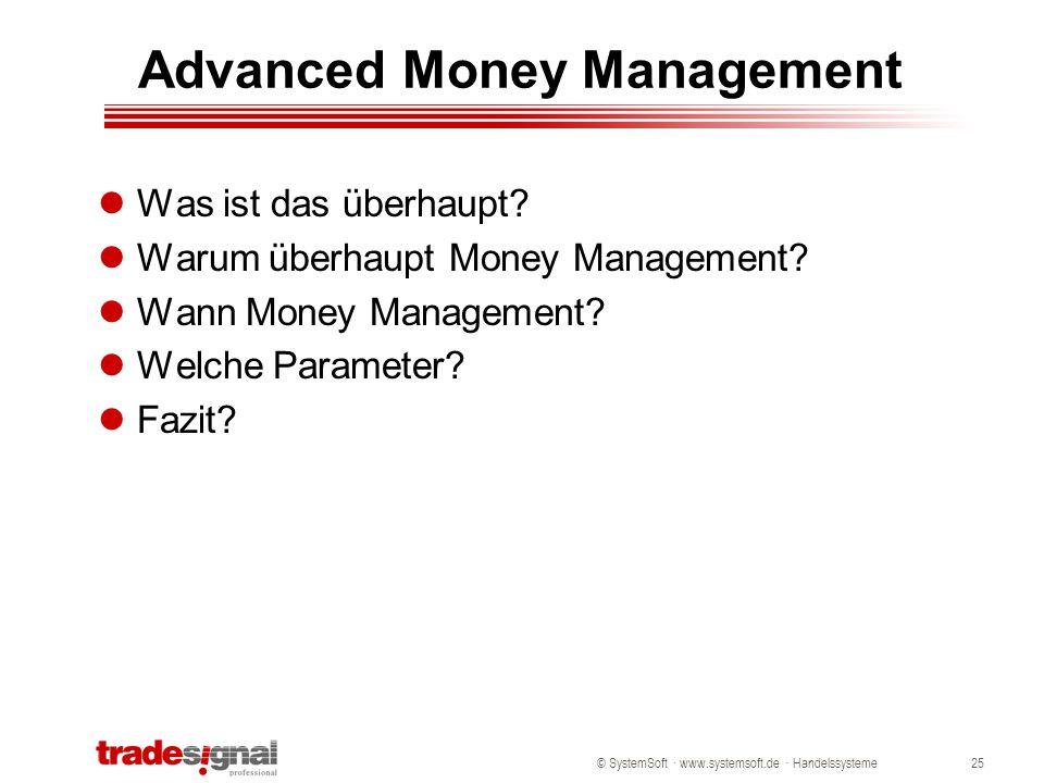 Advanced Money Management
