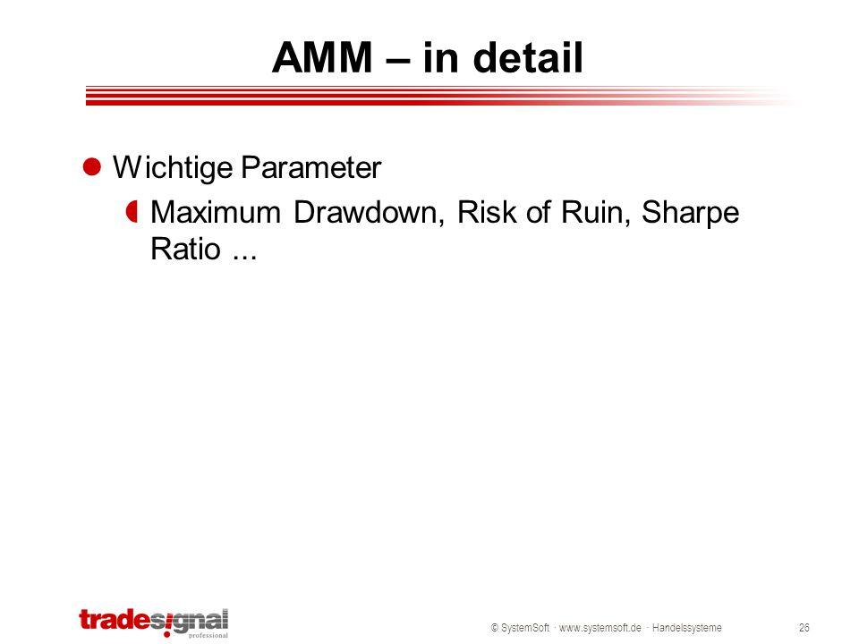 AMM – in detail Wichtige Parameter