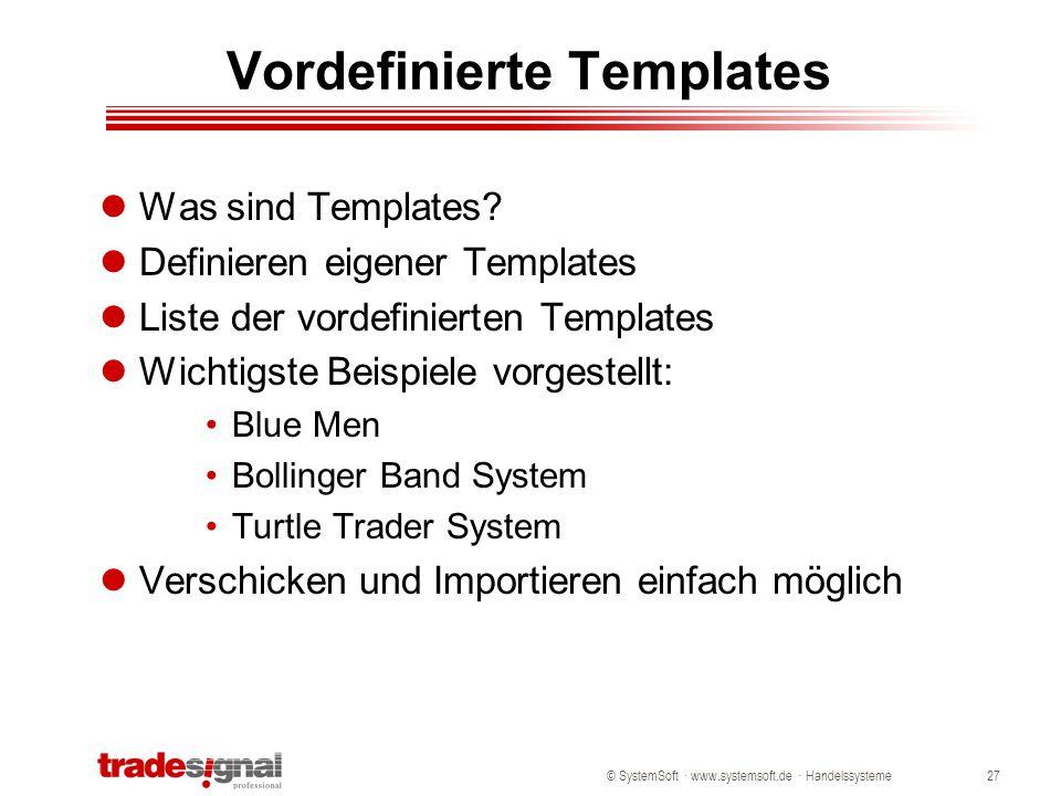 Vordefinierte Templates