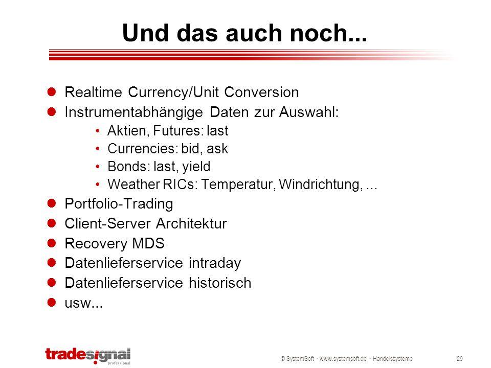 Und das auch noch... Realtime Currency/Unit Conversion
