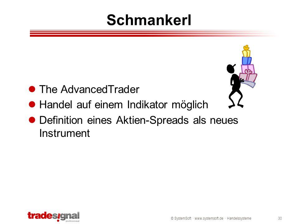 Schmankerl The AdvancedTrader Handel auf einem Indikator möglich