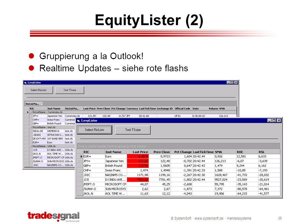 EquityLister (2) Gruppierung a la Outlook!