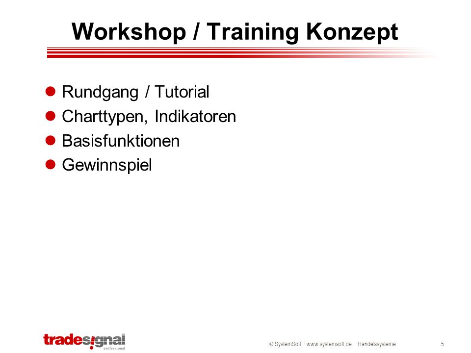 Workshop / Training Konzept