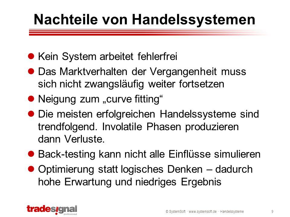 Nachteile von Handelssystemen