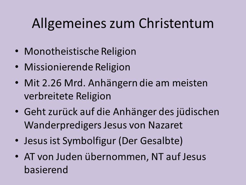 Allgemeines zum Christentum