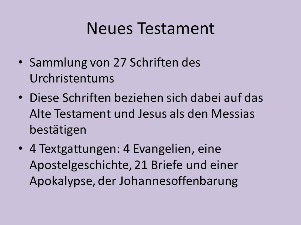 Neues Testament Sammlung von 27 Schriften des Urchristentums