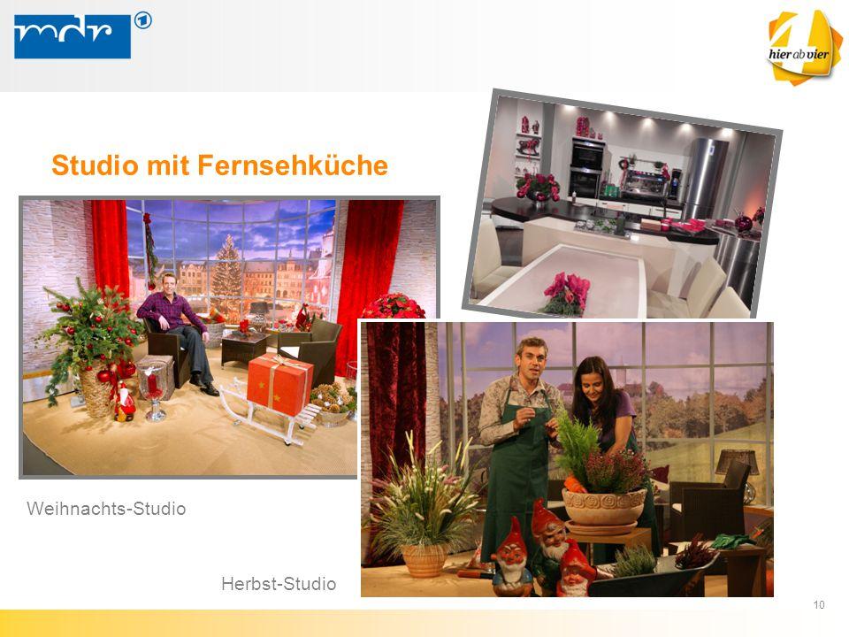 Studio mit Fernsehküche