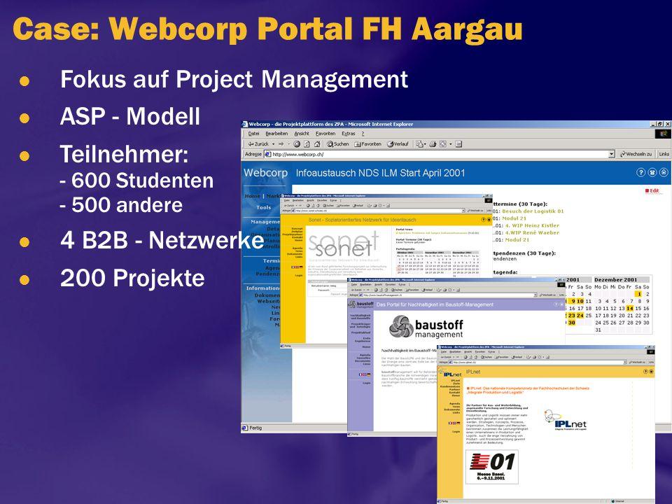 Case: Webcorp Portal FH Aargau