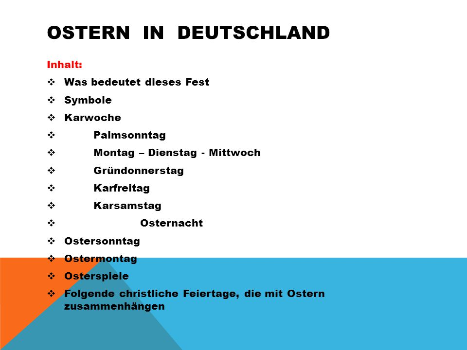 Ostern in deutschland Inhalt: Was bedeutet dieses Fest Symbole