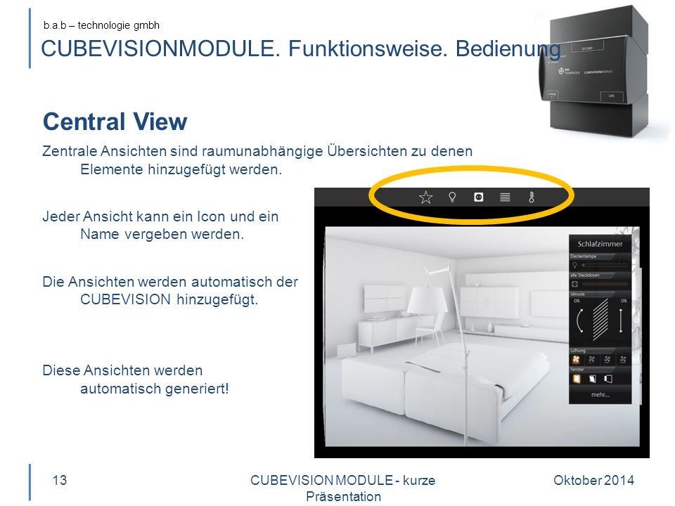 CUBEVISIONMODULE. Funktionsweise. Bedienung