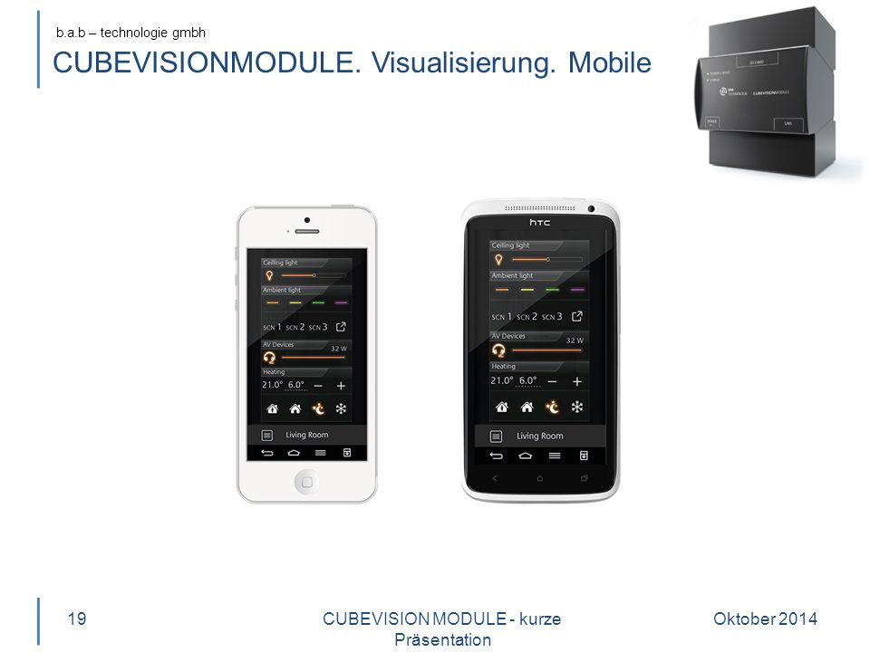 CUBEVISIONMODULE. Visualisierung. Mobile