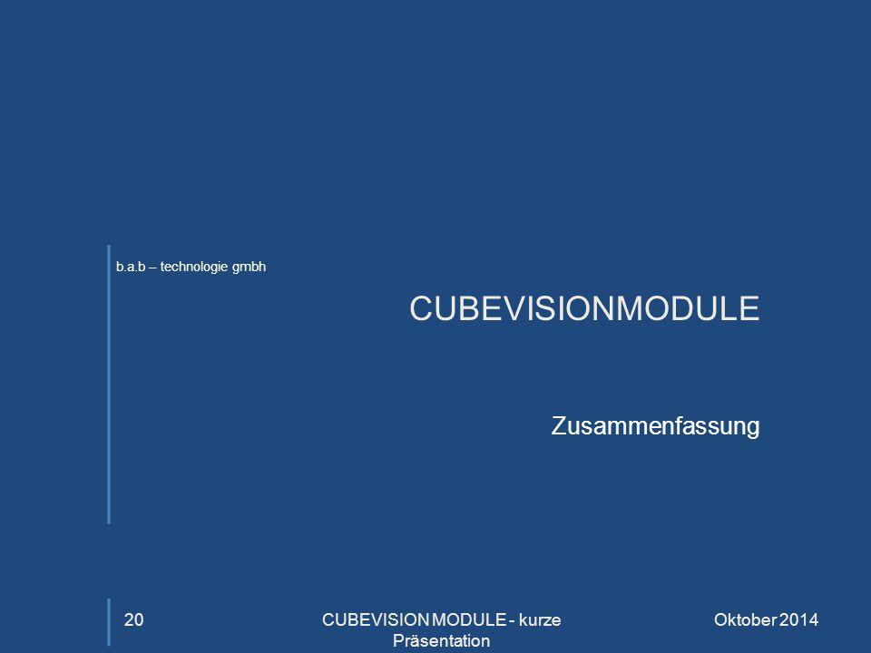 CUBEVISION MODULE - kurze Präsentation