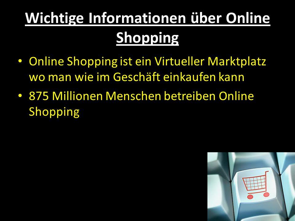 Wichtige Informationen über Online Shopping
