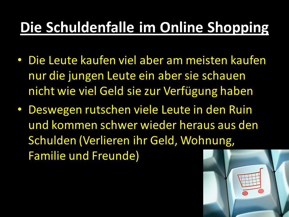 Die Schuldenfalle im Online Shopping