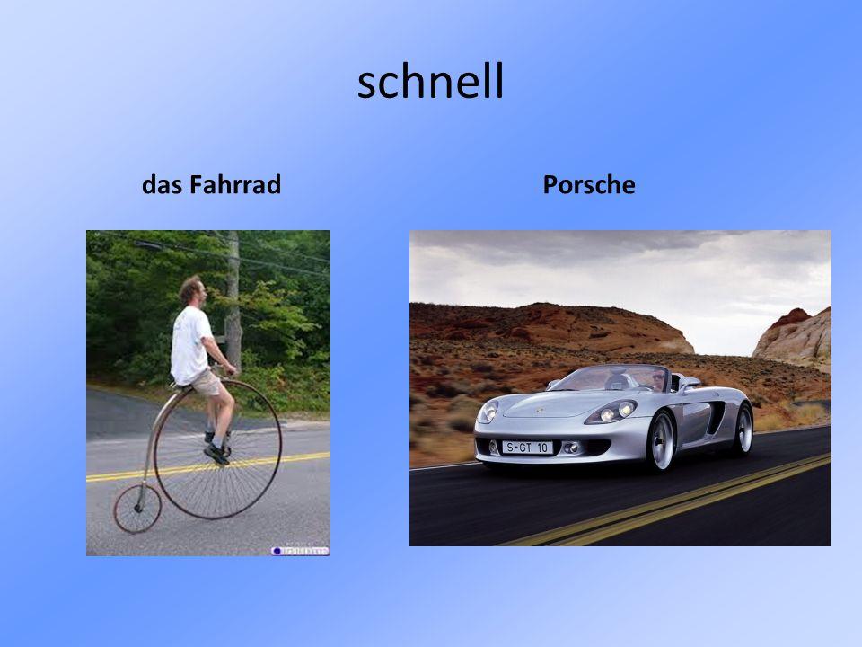 schnell das Fahrrad Porsche