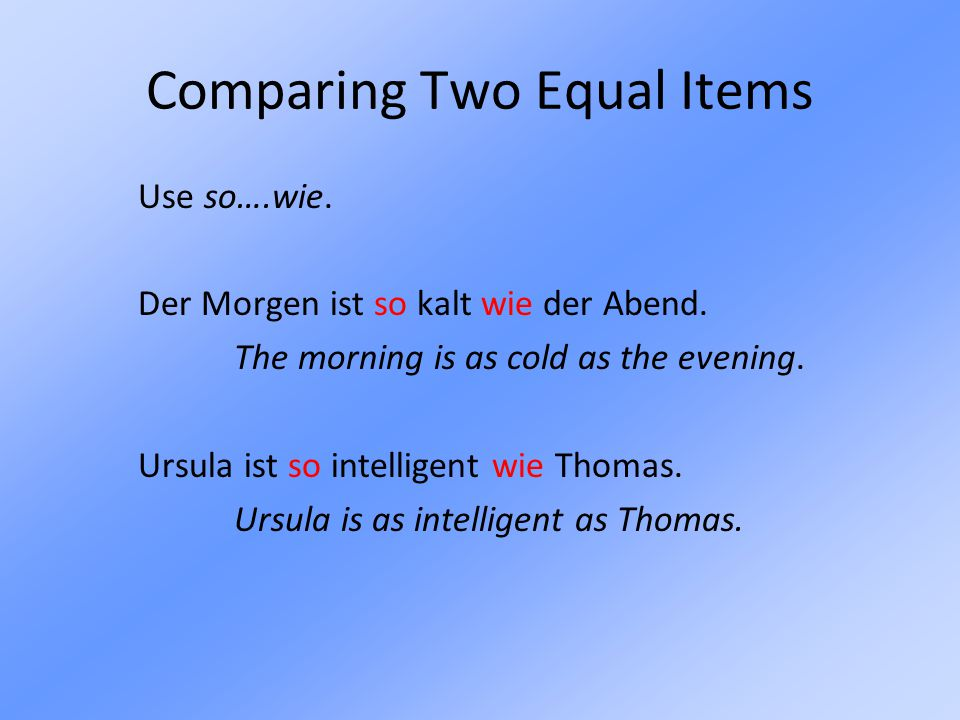 Comparing Two Equal Items