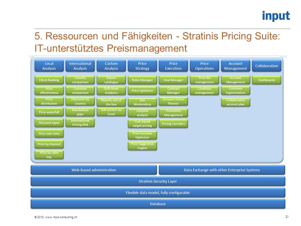 5. Ressourcen und Fähigkeiten - Stratinis Pricing Suite: IT-unterstütztes Preismanagement