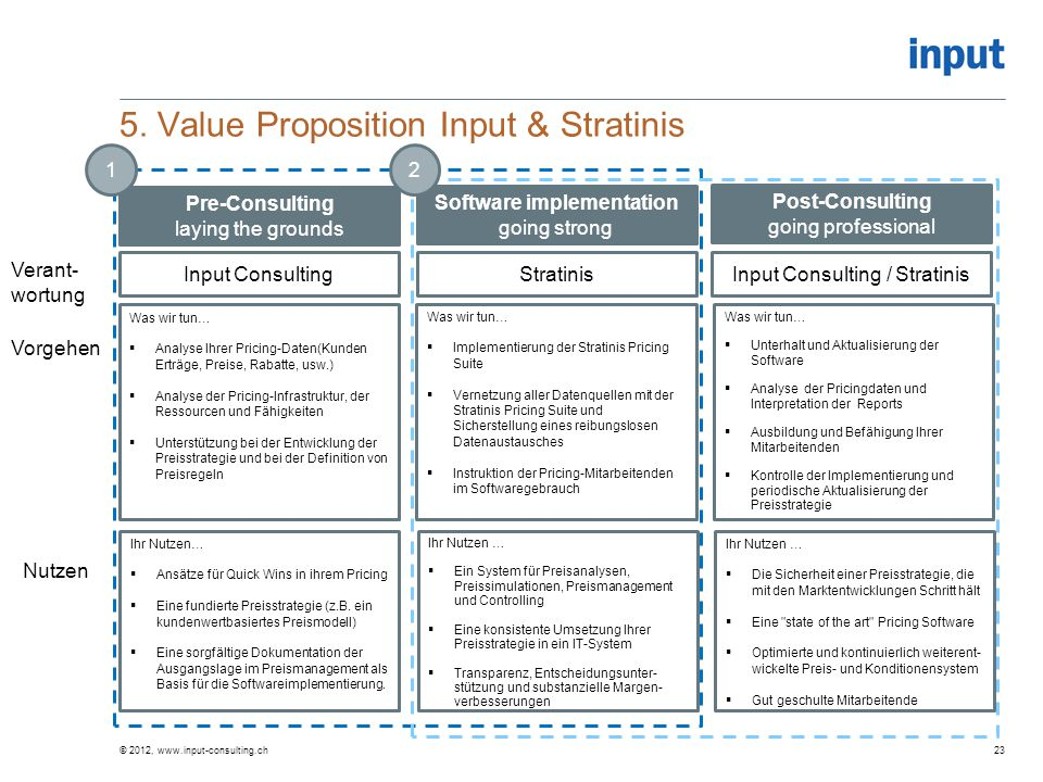5. Value Proposition Input & Stratinis