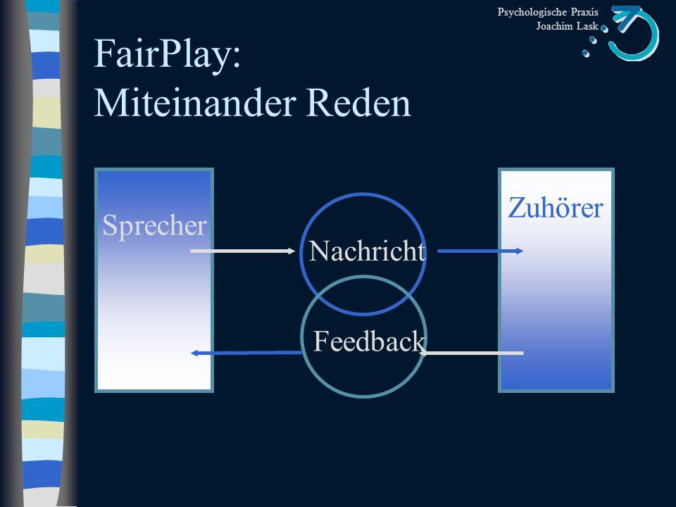 FairPlay: Miteinander Reden