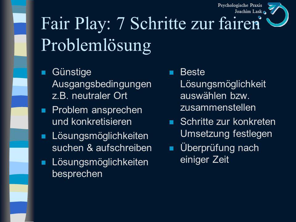 Fair Play: 7 Schritte zur fairen Problemlösung