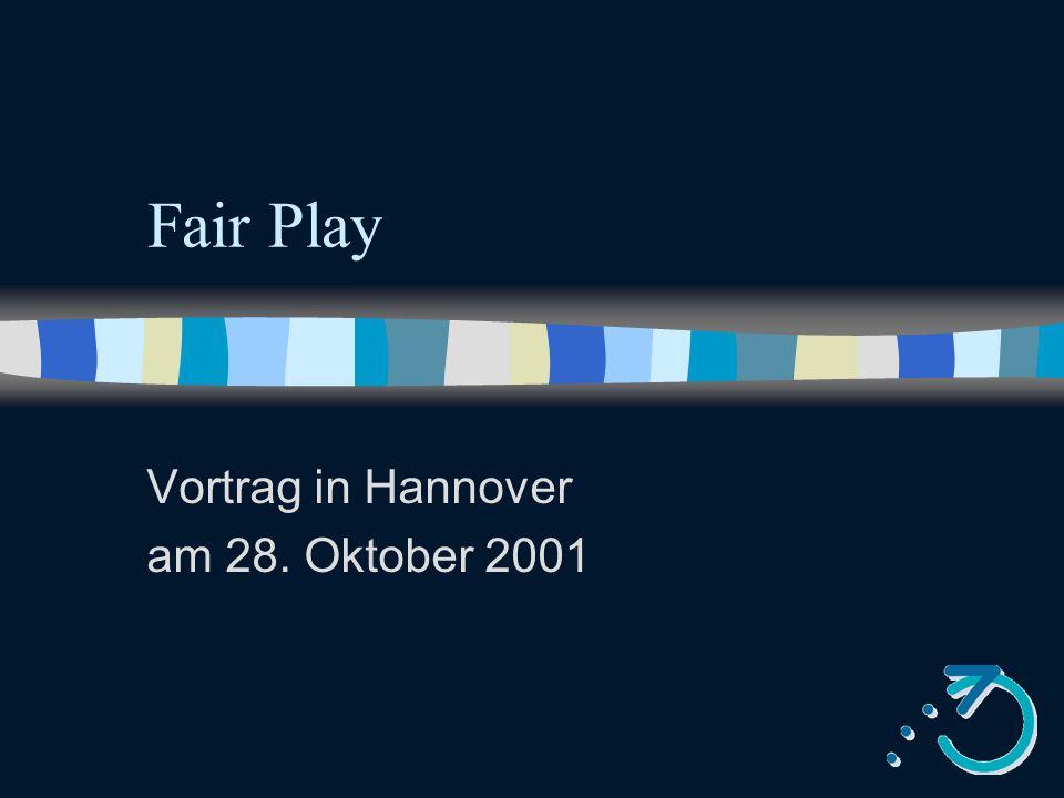 Vortrag in Hannover am 28. Oktober 2001