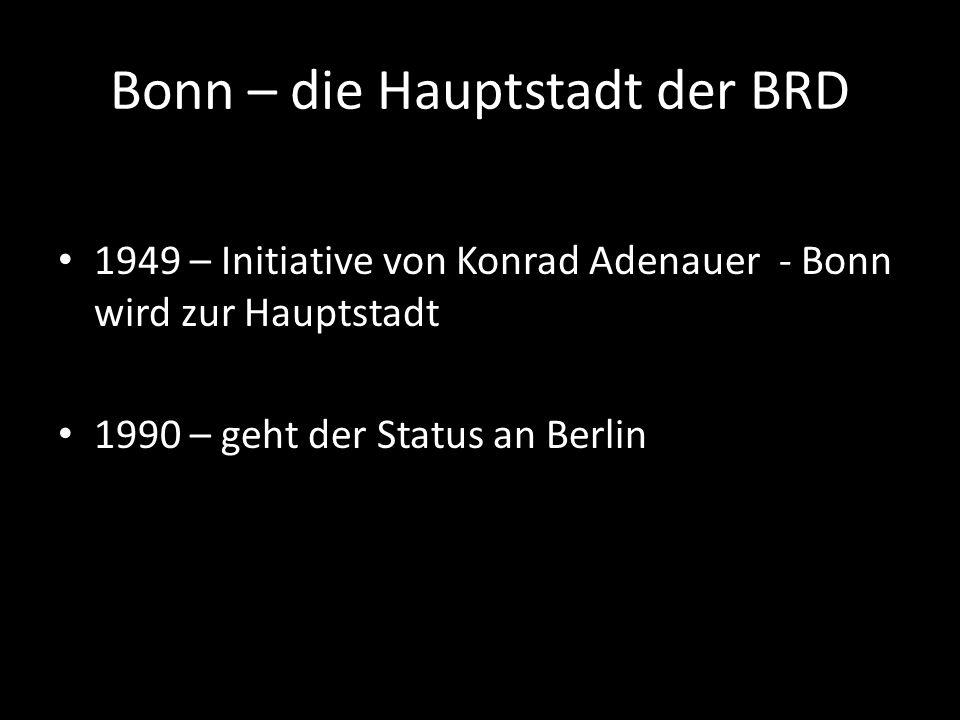 Bonn – die Hauptstadt der BRD