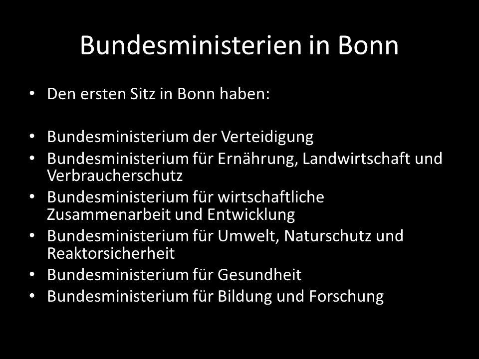 Bundesministerien in Bonn