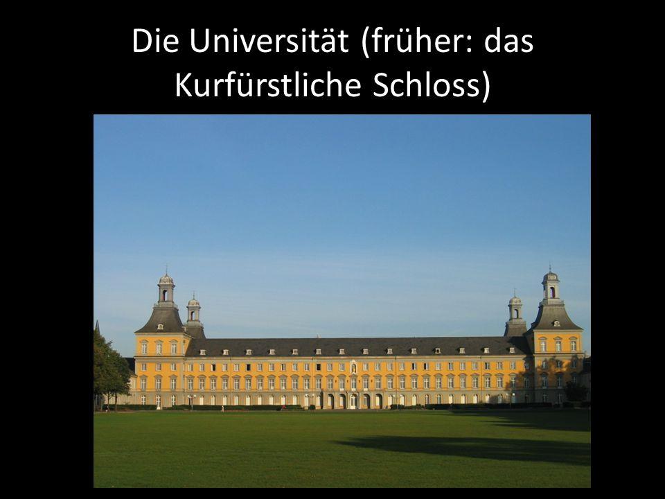 Die Universität (früher: das Kurfürstliche Schloss)