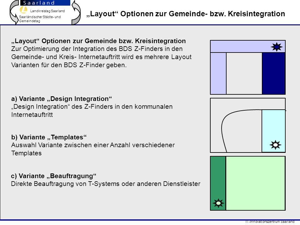 """""""Layout Optionen zur Gemeinde- bzw. Kreisintegration"""