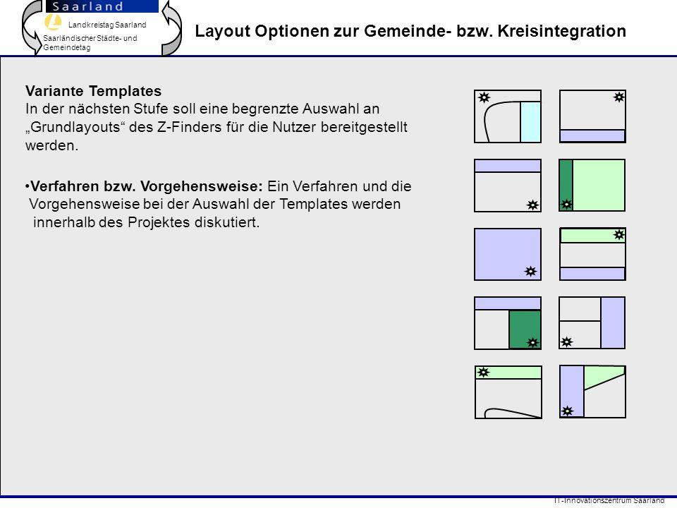 Layout Optionen zur Gemeinde- bzw. Kreisintegration
