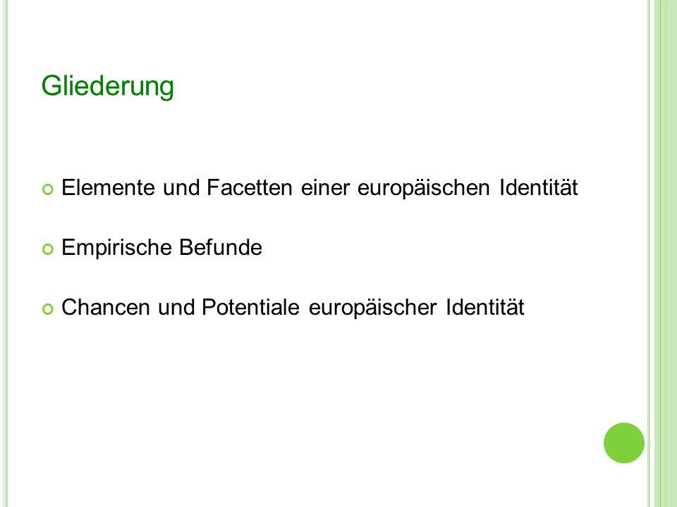 Gliederung Elemente und Facetten einer europäischen Identität